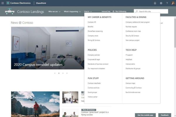 SharePoint Online – Neues Megamenu